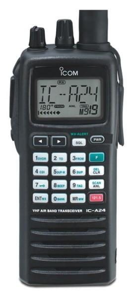 Icom IC-A24E VHF Flugfunkgerät neue Version mit 8,33 / 25 kHz Frequenzraster