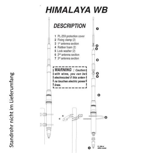 President Himalaya WB CB-Fiberglas-Stationsantenne 22-30 MHz