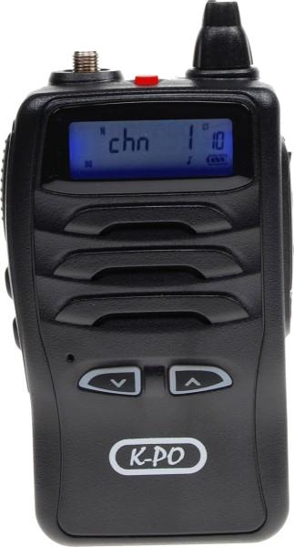 K-PO P1808 UHF FM Handfunkgerät für 70cm Band 400-470MHz und 4 Watt Sendeleistung