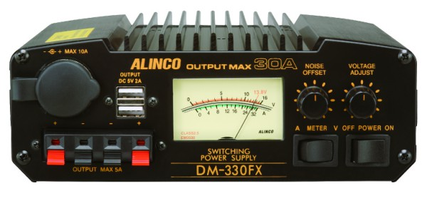 Alinco DM-330FXE Schaltnetzteil 30 A / 9-15V DC mit USB Ladebuchsen