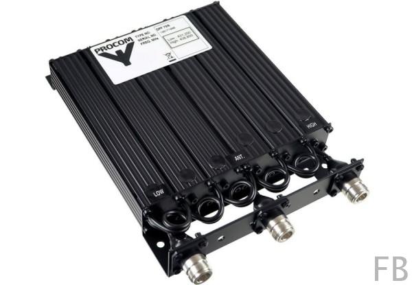 Procom 70cm Band Duplexweiche mit 3x N-Buchsen 406-470 MHz