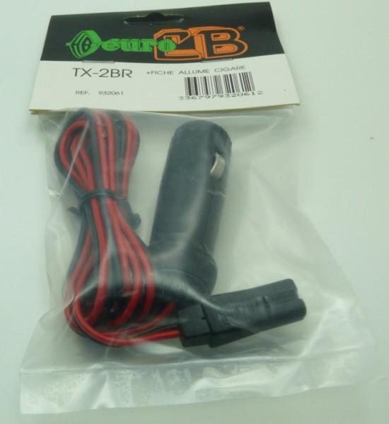 Euro CB TX-2BR DC Anschlusskabel 2-poliger Stecker