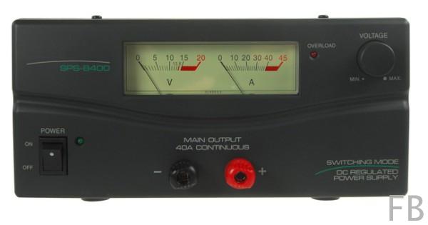 SPS-8400 Schaltnetzteil 40Ampere 3-15Volt mit 2 Instrumenten