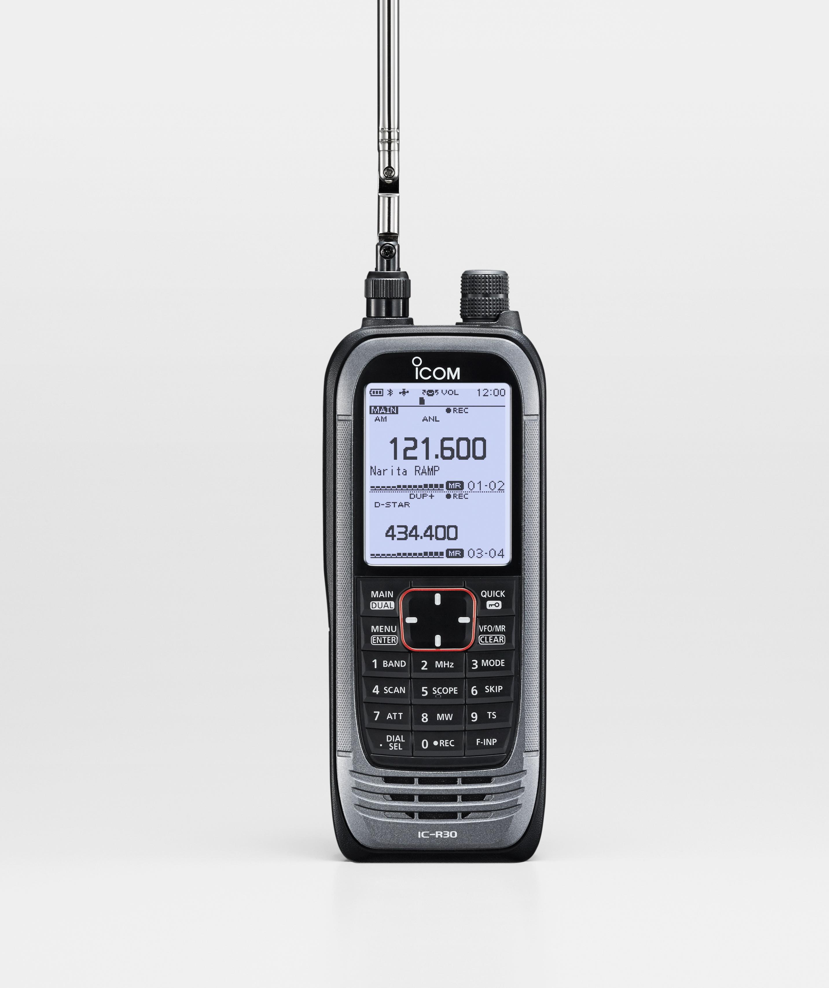 Icom Ic R30 Funkscanner Fr Den Empfang Von Analogen Und Digitalen 484 Am Radio Receiver Vorschau