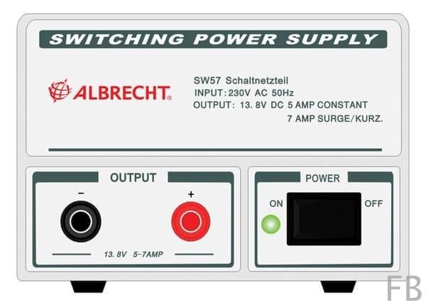 Albrecht Schaltnetzteil SW 57, 5-7 A, 13,8 Volt
