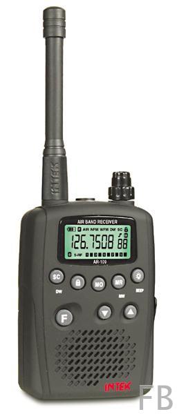INTEK AR-109 Flugfunk Handscanner mit 8,33 kHz Frequenzraster