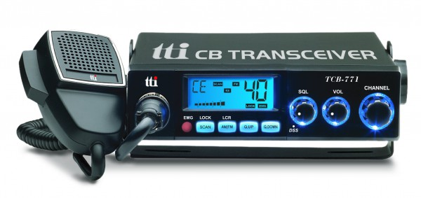 TTI TCB-771 Kompaktes CB Funkgerät mit 12Volt und 24 Volt Stromversorgung