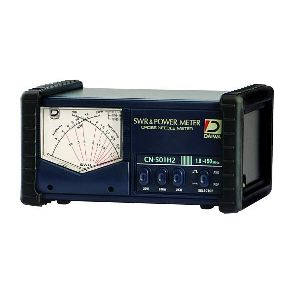 Daiwa CN-501H2 SWR/Wattmeter für 1,8 bis 200 MHz mit Kreuzzeigerinstrument