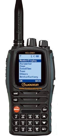 Wouxun KG-D901 DMR digital/analog Handfunkgerät - UHF 70cm Band Version -  Neu 1024 Kanal / 64 Zonen