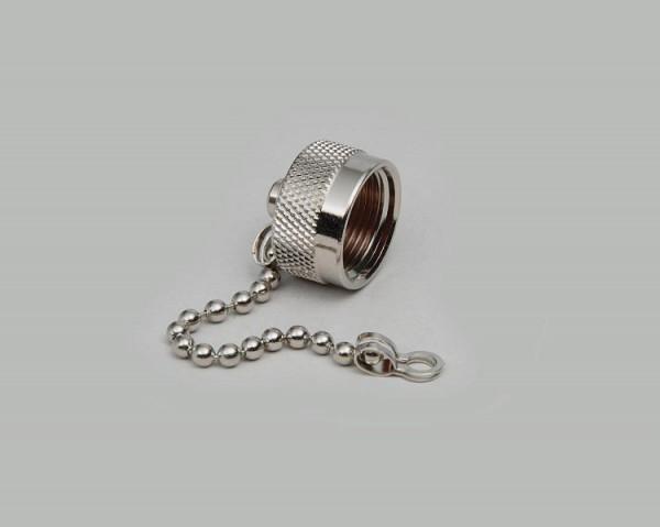 N Verschlusskappe für N-Buchse mit Kette