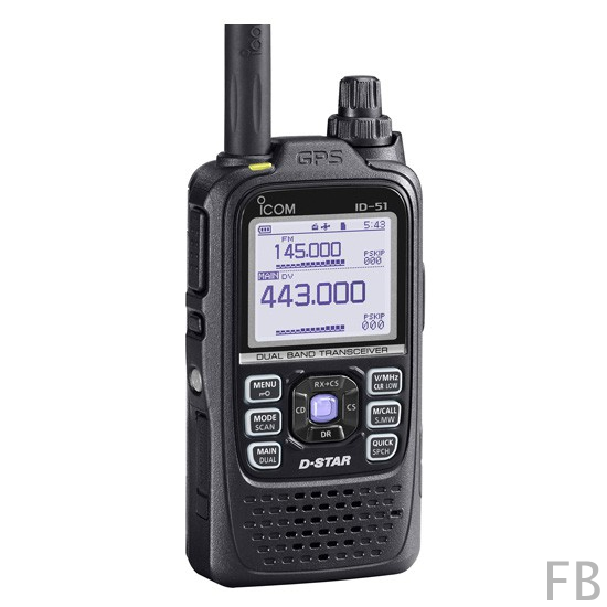 Icom ID-51E PLus Black VHF/UHF DUAL BAND DIGITAL Transceiver