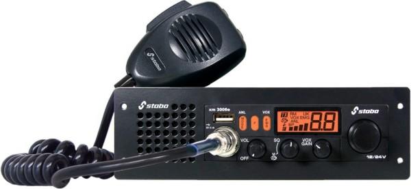 Stabo XM 3006e 12/24 Volt CB-Multinormgerät mit Vox und Einschubhalterung