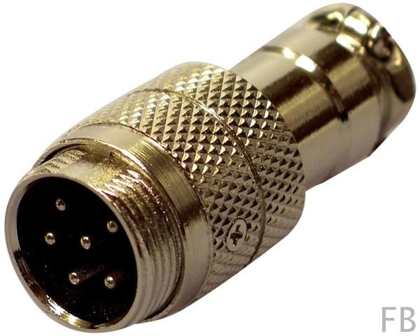 Mikrofon Kabelbuchse 6-polig