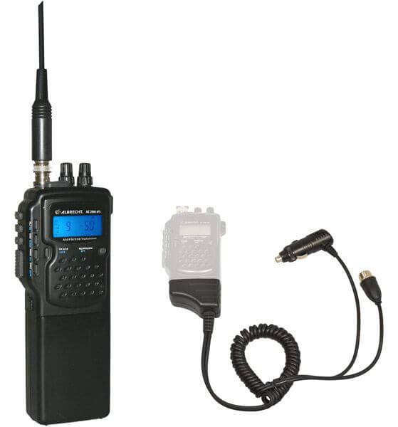 Albrecht AE 2990 AFS CB Funk Handfunkgerät mit AM/FM/SSB - inkl. KFZ M Mobilhalter