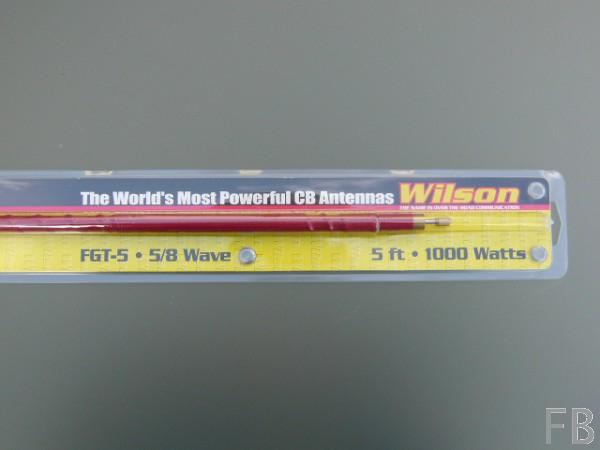 WILSON FGT 5 Red CB-Mobilantennenstrahler 157cm Länge