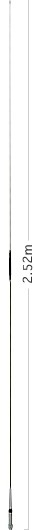 Diamond NR-22LH 2m Band Antennenstrahler 252cm Länge