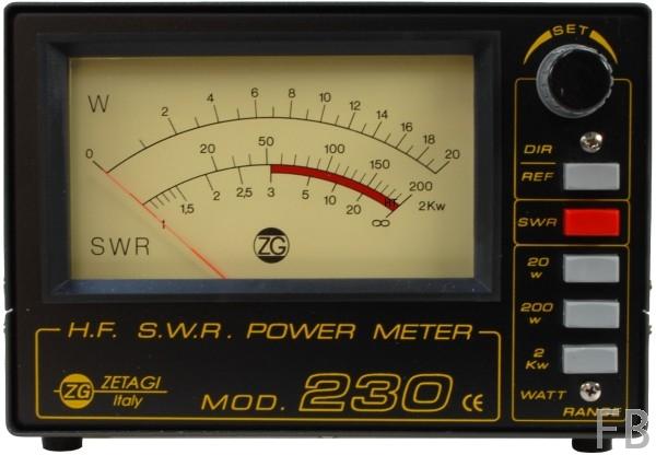 Zetagi SWR 230 SWR/Wattmeter für 2-30 MHz und bis 1000 Watt