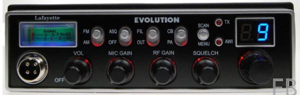 Lafayette Evolution CB-Mobilgerät 12/24 Volt Multistandard mit DIN Einbaurahmen