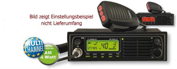 Albrecht AE6491CT Multinorm CB Funkgerät mit 40/80 Kanal AM/FM 4 Watt und 12/24 Volt