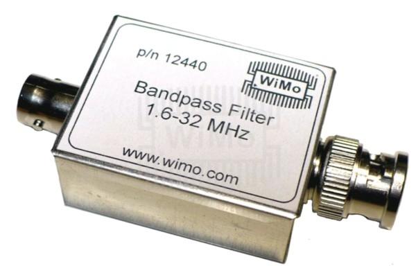 Bandpassfilter 1,6 - 32 MHz mit BNC-Anschlüsse (Stecker/Buchse)
