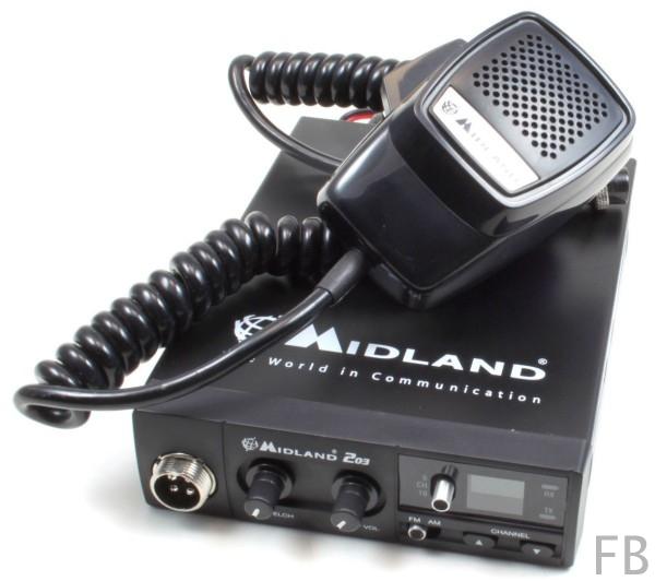 Midland 203 Plus Multinom CB-Funkgerät mit kompakten Abmessungen