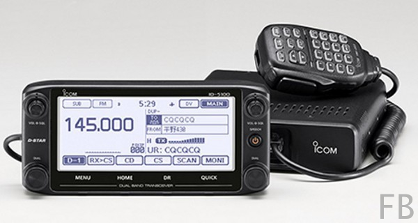 Icom ID-5100E D-Star/FM-Mobiltransceiver Dualband