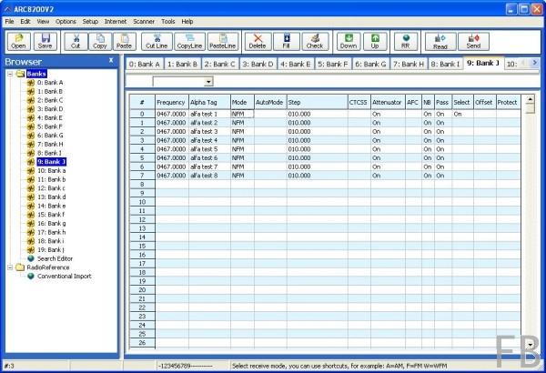 BuTel ARC-8600 Programmiersoftware für AOR AR-8600 Breitbandempfänger