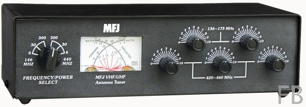 MFJ-923 Dual Band VHF/UHF 200W Antennentuner mit SWR/Wattmeter