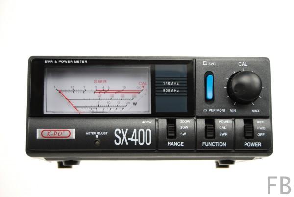 K-PO SX-400 SWR/Wattmeter für 140-525 MHz PL-Anschlüsse