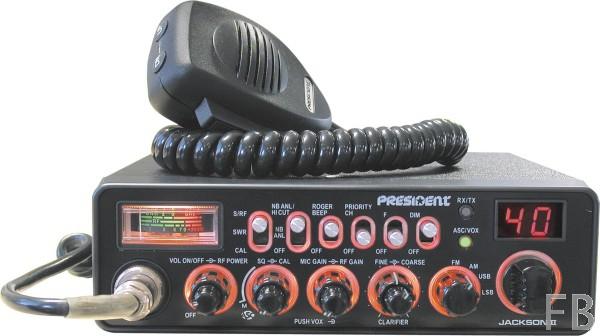 President Jackson II ASC Classic AM/FM/SSB CB-Funkgerät mit Multinorm Technik