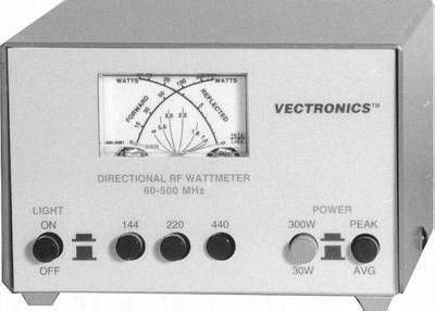 Vectronics PM-30UV SWR/Watt-Meter 100-500 MHz Kreuzzeigerinstrument