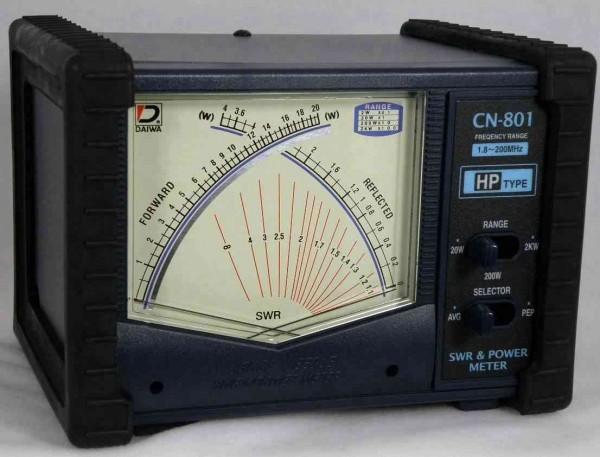 Daiwa CN-801HP SWR/Wattmeter für 1,8 bis 200 MHz und 2000 Watt Sendeleistung