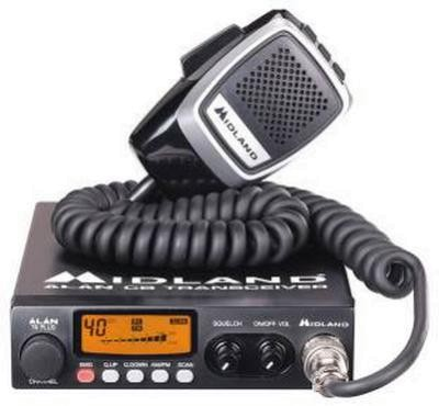 Alan Midland 78 Plus Multi Set CB Mobilfunkgerät mit Einbaurahmen