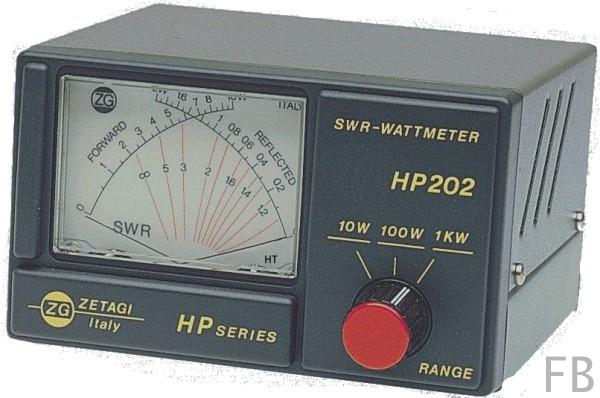 Zetagi HP-202 SWR/Wattmeter 26-30 MHz mit Kreuzzeigerinstrument