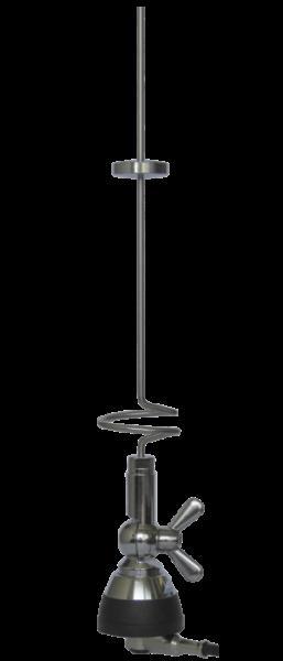 Sirio SDB-702 2m/70cm Band Mobilantenne mit Fuß und 5m Kabel Strahlerlänge 47cm