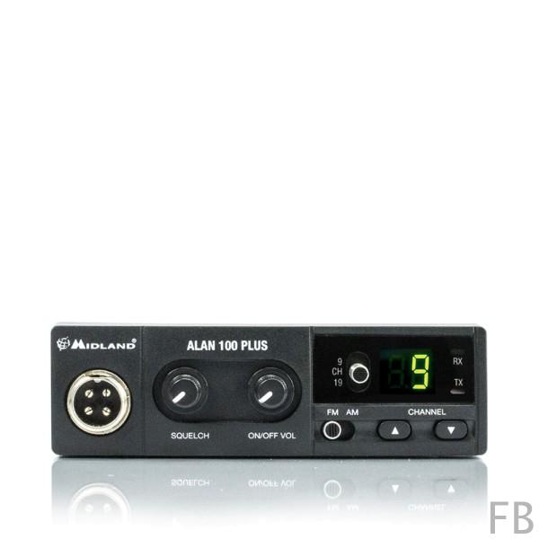 Alan 100 Plus Euro 40 Kanal AM/FM 4 Watt Kompakt CB Funkgerät