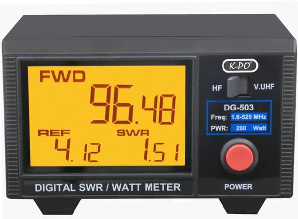 K-PO DG-503 SWR/Watt-Meter mit LC-Display und zwei Messbereichen