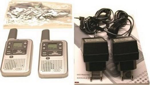 SL01-D Slimtalk Extreme Mini PMR446 Handfunkgeräte mit Zubehör im Lieferumfang