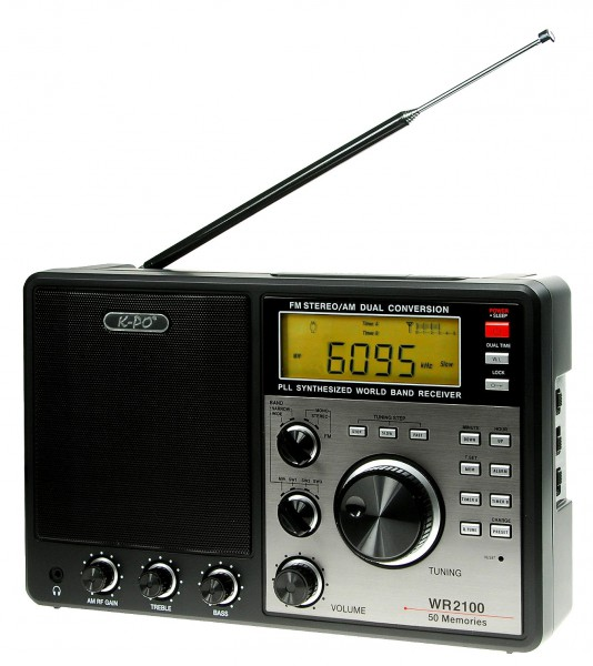K-PO WR-2100 Weltempfänger PLL Technik DRM Ausgang