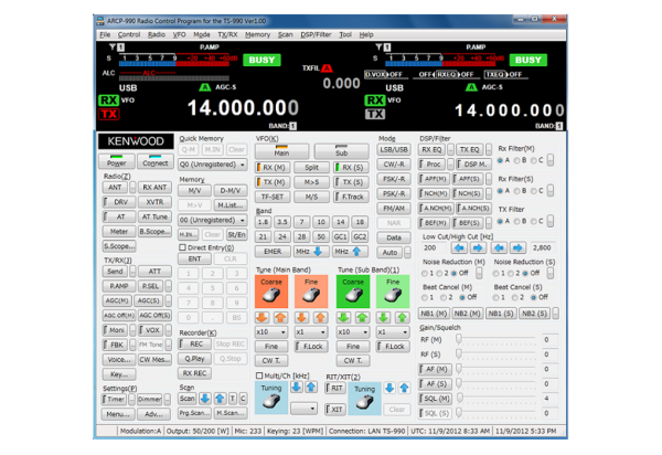 Kenwood ARCP-990 PC Steuersoftware für TS-990S