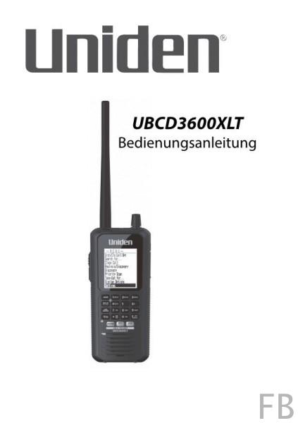 Uniden UBCD3600XLT Deutsche Bedienungsanleitung