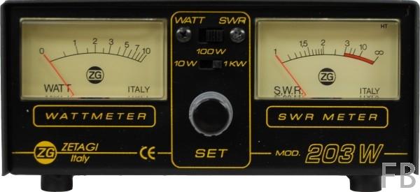 Zetagi SWR203 SWR/Wattmeter mit zwei Instrumenten