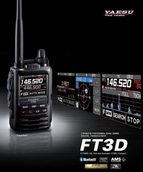 Yaesu FT-3DE 5W C4FM/FM 144/430 MHz Dual Band Digital Transceiver