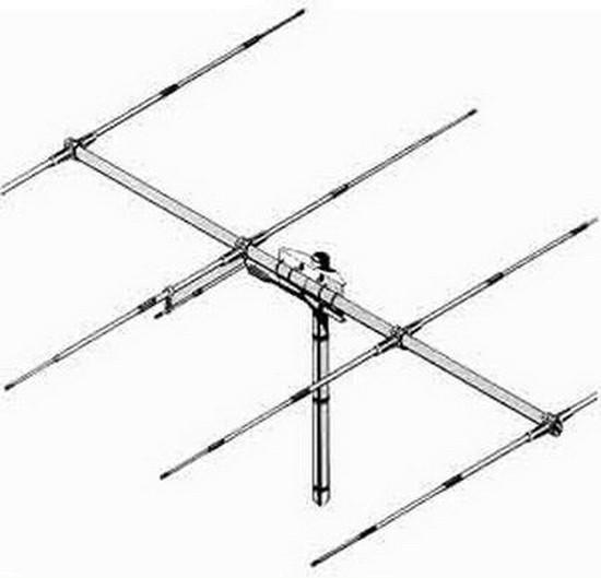 Sirio SY 27-4 Yagi Richtantenne mit 4 Elementen 26-30 MHz