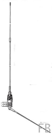 Sirio Boomerang 27A CB Balkonantenne 309cm