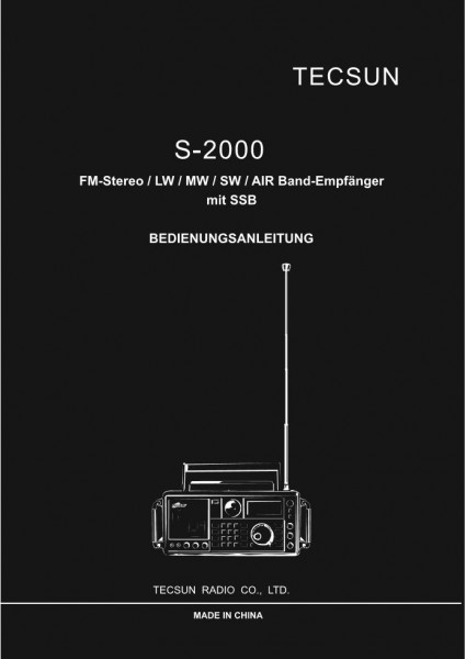 Tecsun S-2000 Deutsche Bedienungsanleitung