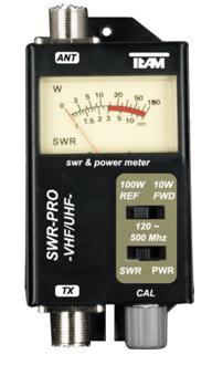 Team SWR-PRO SWR/Watt-Meter 120-500 MHz und bis 100 Watt Sendeleistung
