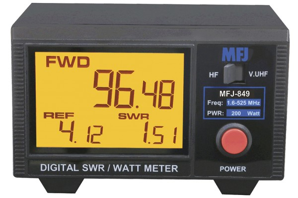 MFJ-849 Digital SWR/Wattmeter HF/VHF/UHF 200W