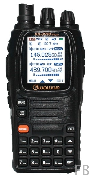 Wouxun KG-UV9D Plus 2m/70cm VHF/UHF Crossband Dualband Handfunkgerät Farbdisplay