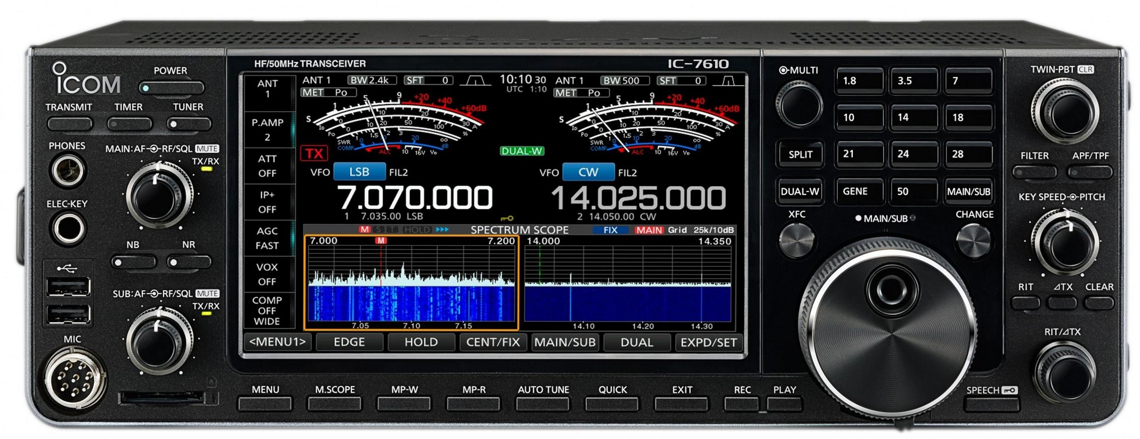 Icom Ic 7610 Hf 6m Band Transceiver Mit Sdr Technik Und 100 Watt 484 Am Radio Receiver Sendeleistung Funktechnik Bielefeld Professionelles Equipment Fr Gehobene Ansprche